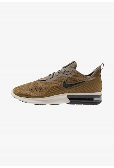 Cadeaux De Noël 2019 Nike AIR MAX SEQUENT 4 - Chaussures de running neutres med olive/black/olive flak/team orange/light bone liquidation
