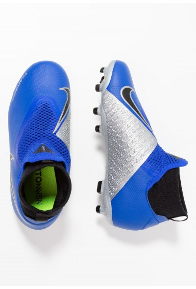 Nike Chaussures de foot à crampons racer blue/black/metallic silver/volt liquidation