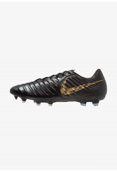 Nike TIEMPO LEGEND 7 PRO FG - Chaussures de foot à crampons black/metallic vivid gold liquidation