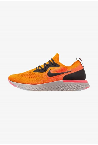 Nike EPIC REACT FLYKNIT - Chaussures de running neutres copper flash/black/flash crimson/moon particle liquidation