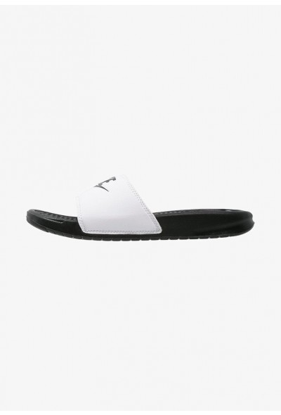 Black Friday 2020 | Nike BENASSI JDI - Sandales de bain white/black liquidation