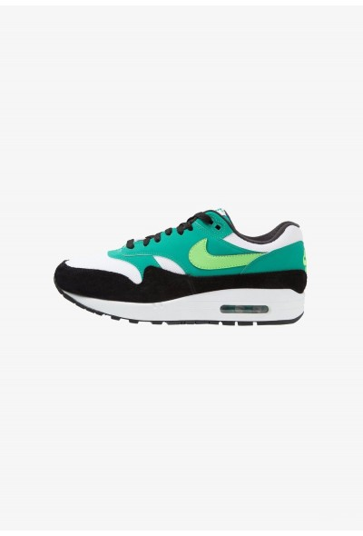 Nike AIR MAX 1 - Baskets basses white/green strike/neptune green/black liquidation