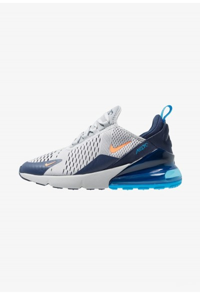 Nike AIR MAX 270 - Baskets basses wolf grey/total orange/midnight navy/photo blue liquidation