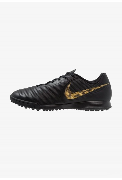 Nike LEGENDX 7 ACADEMY TF - Chaussures de foot multicrampons black/metalic vivid gold liquidation