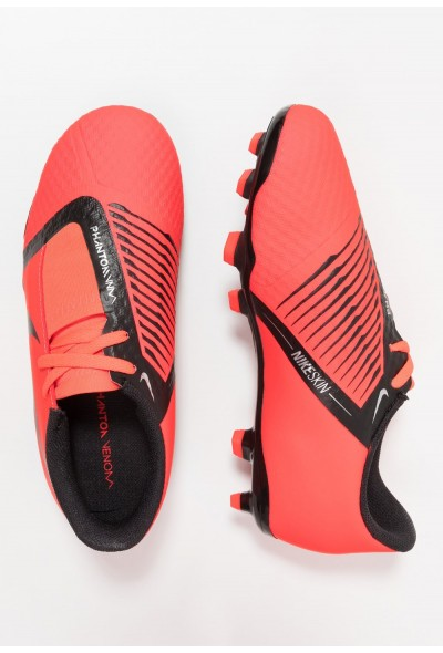 Nike PHANTOM ACADEMY FG - Chaussures de foot à crampons bright crimson/black/metallic silver liquidation