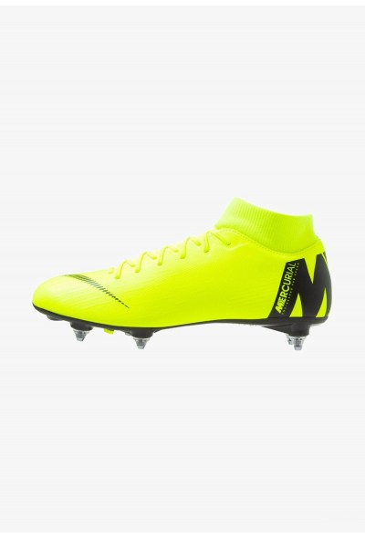 Black Friday 2020 | Nike MERCURIAL 6 ACADEMY SGPRO - Chaussures de foot à lamelles volt/black liquidation