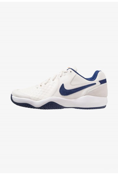 Nike AIR ZOOM RESISTANCE - Chaussures de tennis sur terre battue phantom/blue void/sail/orange blaze liquidation