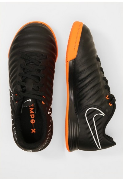 Nike TIEMPO LEGENDX 7 ACADEMY IC - Chaussures de foot en salle black/total orange/white liquidation
