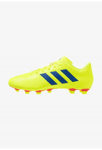 Adidas NEMEZIZ 18.4 FXG - Chaussures de foot à crampons solar yellow/football blue/active red pas cher
