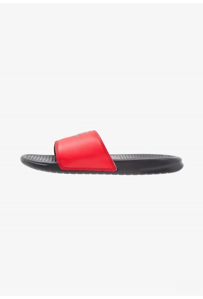 Nike BENASSI JDI - Sandales de bain anthracite/university red liquidation