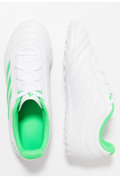 Adidas COPA 19.4 TF - Chaussures de foot multicrampons footwear white/solar lime pas cher