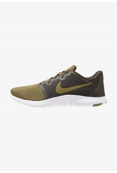 Nike FLEX CONTACT 2 - Chaussures de running compétition sequoia/olive flak/hyper crimson liquidation