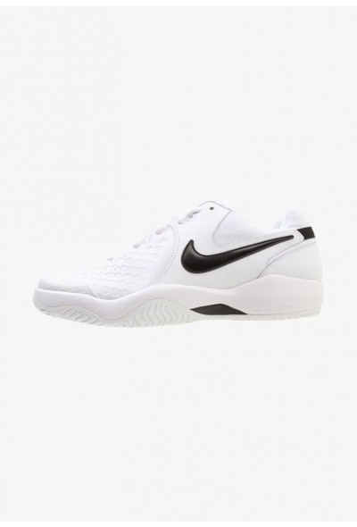 Nike AIR ZOOM RESISTANCE - Chaussures de tennis sur terre battue white/black liquidation