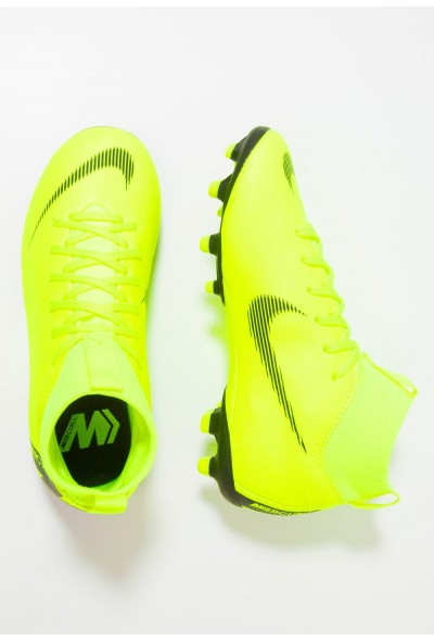 Black Friday 2020 | Nike MERCURIAL 6 ACADEMY MG - Chaussures de foot à crampons volt/black liquidation