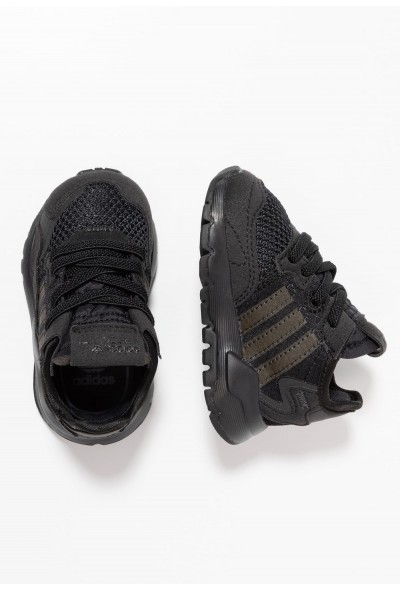 Adidas NITE JOGGER - Mocassins core black/carbon/grey five pas cher