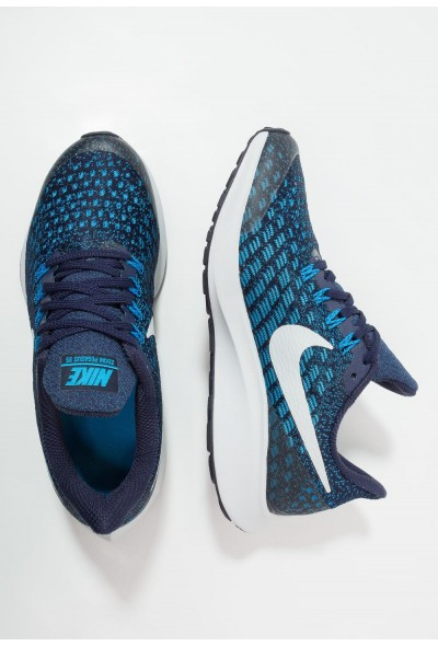 Nike AIR ZOOM PEGASUS 35 - Chaussures de running neutres blackened blue/pure platinum liquidation