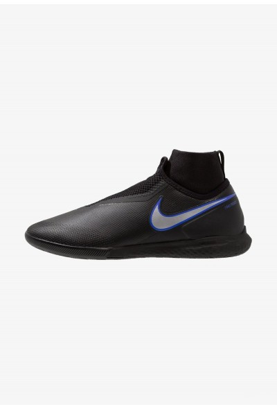 Black Friday 2020 | Nike PHANTOM REACT OBRA PRO IC - Chaussures de foot en salle black/metallic silver/racer blue liquidation