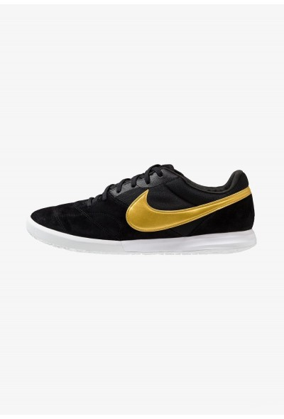 Nike THE PREMIER II SALA - Chaussures de foot en salle black/metallic vivid gold/white liquidation