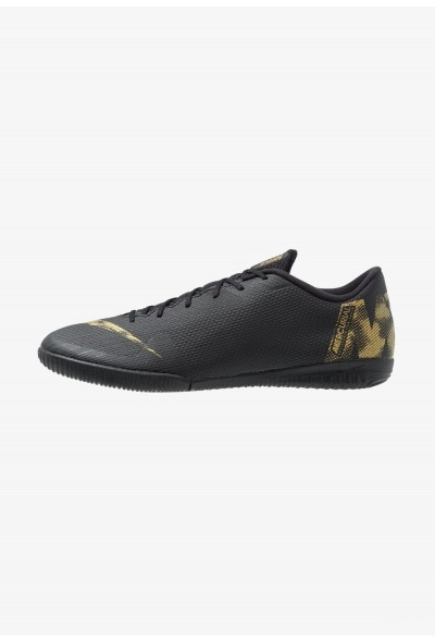 Black Friday 2020 | Nike MERCURIAL VAPORX 12 ACADEMY IC - Chaussures de foot en salle black/metallic vivid gold liquidation