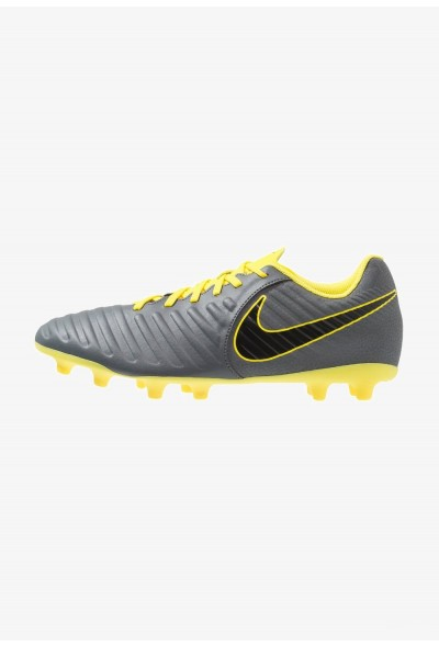 Nike TIEMPO LEGEND 7 CLUB MG - Chaussures de foot à crampons dark grey/black/opti yellow liquidation