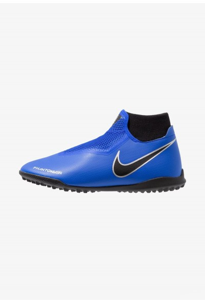 Nike PHANTOM OBRAX 3 ACADEMY DF TF - Chaussures de foot multicrampons racer blue/black/metallic silver/volt liquidation