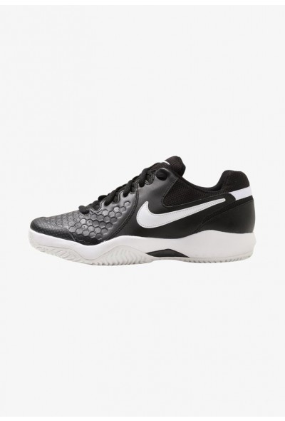 Nike AIR ZOOM RESISTANCE - Chaussures de tennis sur terre battue black/white liquidation