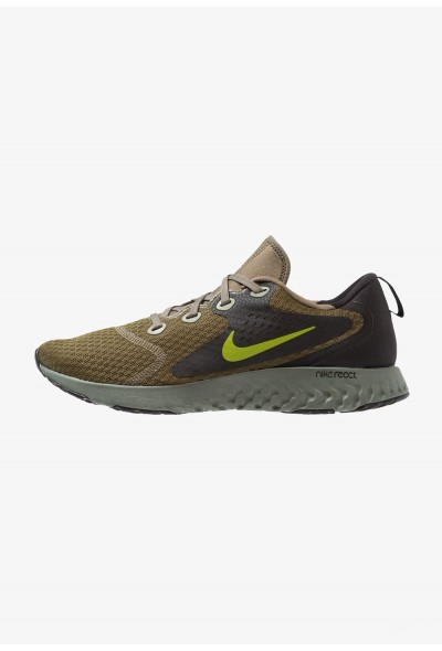 Nike LEGEND REACT - Chaussures de running neutres medium olive/peat moss/black/dark stucco/hyper royal/hyper crimson liquidation