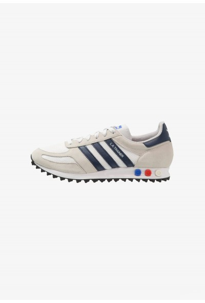 Adidas LA TRAINER - Baskets basses crystal white/collegiate navy/core brown pas cher