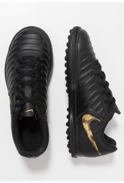 Nike TIEMPO LEGENDX 7 CLUB TF - Chaussures de foot multicrampons black/metallic vivid gold liquidation
