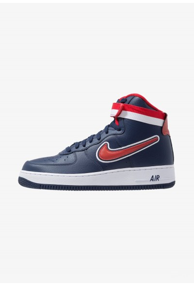 Nike AIR FORCE 1 '07 LV8 SPORT - Baskets montantes midnight navy/universal red/white liquidation