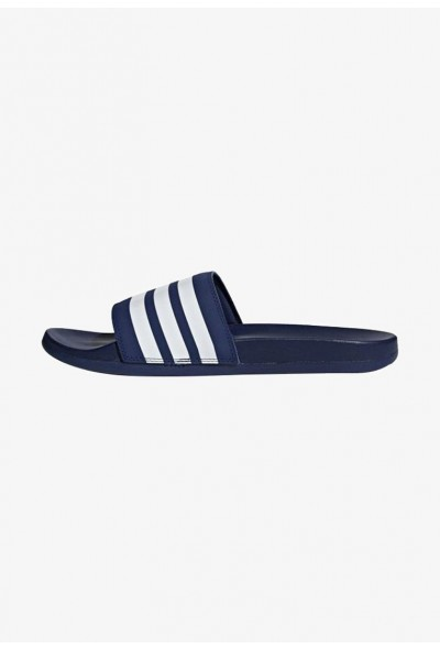 Black Friday 2019 | Adidas ADILETTE CLOUDFOAM PLUS STRIPES SLIDES - Sandales de bain blue pas cher