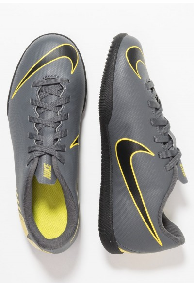 Nike MERCURIAL VAPORX 12 CLUB IC - Chaussures de foot en salle dark grey/black/opti yellow liquidation