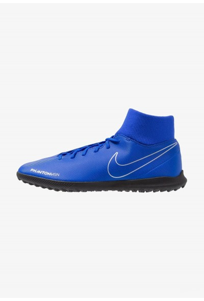 Nike PHANTOM OBRAX 3 CLUB DF TF - Chaussures de foot multicrampons racer blue/black/volt/metalli silver liquidation