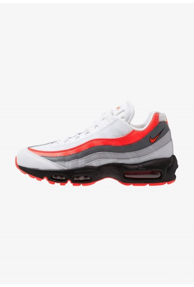 Nike AIR MAX 95 ESSENTIAL - Baskets basses white/bright crimson/black/pure platinum/wolf grey/cool grey liquidation