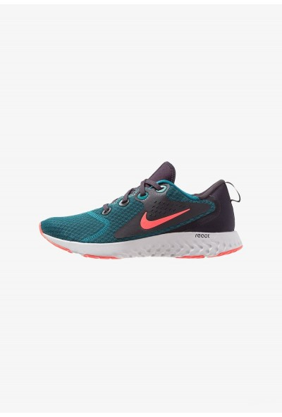 Nike LEGEND REACT - Chaussures de running neutres geode teal/hot punch/oil grey/vast grey liquidation