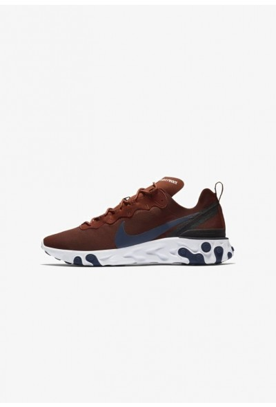 Nike REACT 55 - Baskets basses mars stone/black/white/midnight navy liquidation