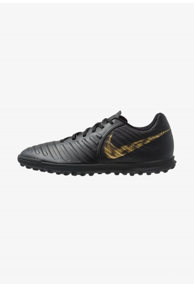 Nike TIEMPO LEGENDX 7 CLUB TF - Chaussures de foot multicrampons black/metalic vivid gold liquidation