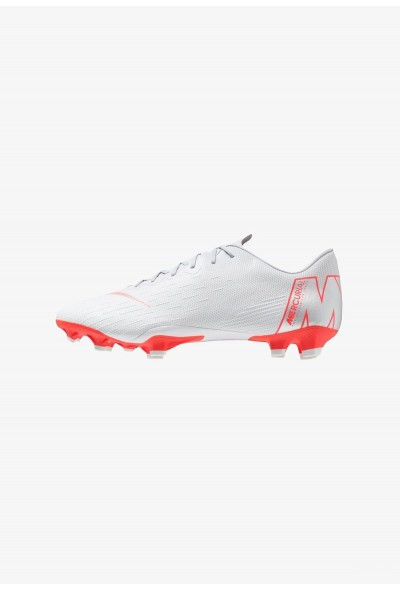 Nike MERCURIAL VAPOR 12 PRO FG - Chaussures de foot à crampons wolf grey/light crimson/pure platinum/metallic silver liquidation