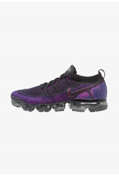 Nike AIR VAPORMAX FLYKNIT - Chaussures de running neutres black/night purple/vivid purple/regency purple liquidation