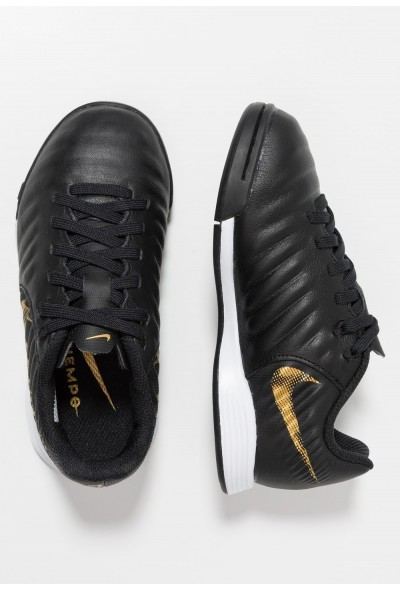 Nike TIEMPO LEGENDX 7 ACADEMY IC - Chaussures de foot en salle black/metallic vivid gold liquidation