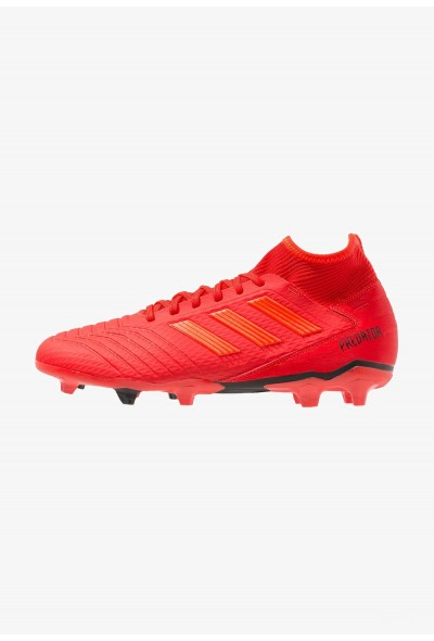 Adidas PREDATOR 19.3 FG - Chaussures de foot à crampons active red/solar red/core black pas cher