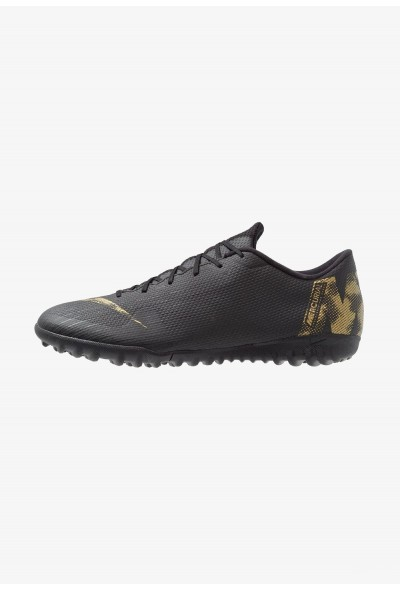 Nike MERCURIAL VAPORX 12 ACADEMY TF - Chaussures de foot multicrampons black/metallic vivid gold liquidation