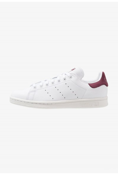 Adidas STAN SMITH - Baskets basses footwear white/maroon pas cher