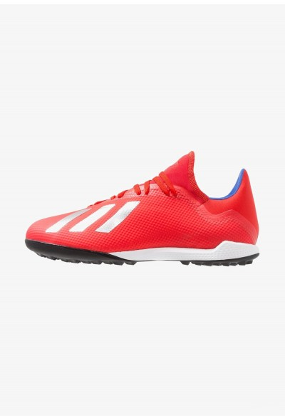 Adidas X 18.3 TF - Chaussures de foot multicrampons active red/silver metallic/bold blue pas cher