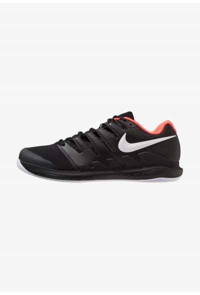 Nike AIR ZOOM VAPOR X HC - Baskets tout terrain black/white/bright crimson liquidation