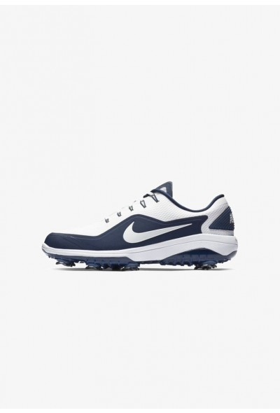 Nike REACT VAPOR  - Chaussures de golf white/midnight navy/metallic white liquidation