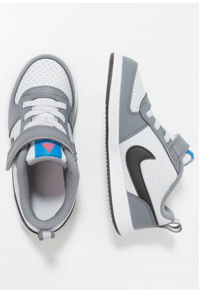 Nike COURT BOROUGH  - Chaussures premiers pas cool grey/anthracite/pure platinum/photo blue liquidation