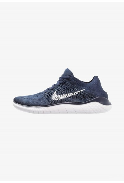 Nike FREE RUN FLYKNIT 2018 - Chaussures de course neutres college navy/white/squadron blue liquidation