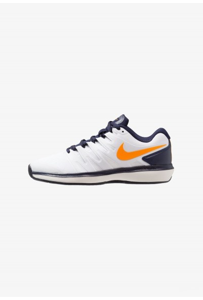 Nike AIR ZOOM PRESTIGE CLY - Chaussures de tennis sur terre battue white/orange peel/blackened blue/phantom liquidation