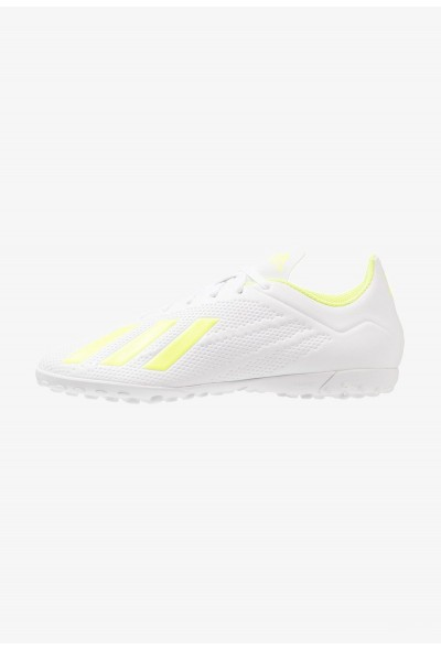 Adidas X 18.4 TF - Chaussures de foot multicrampons footwear white/solar yellow pas cher